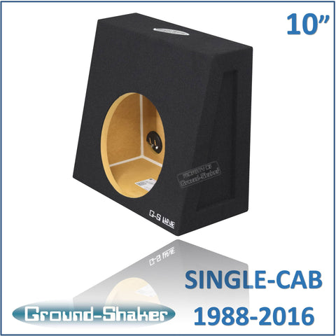 "CHV-ST110B <br>BLACK 10"" SINGLE SEALED SUB BOX, FITS CHEV SILVERADO & GMC SIERRA REGULAR CAB 1988-2016"
