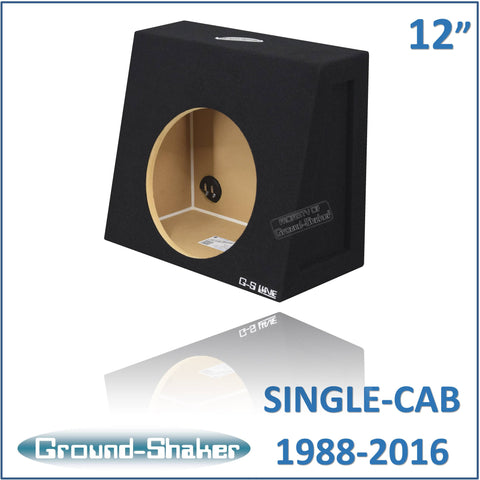 "CHV-ST112B <br>BLACK 12"" SINGLE SEALED SUB BOX, FITS CHEVY SILVERADO & GMC SIERRA REGULAR CAB 1988-2016"