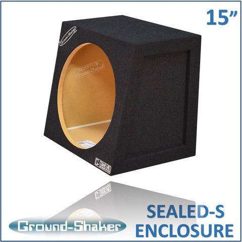 "GS-CP115B <br> BLACK 15"" SINGLE SEALED COMPACT SUB BOX"