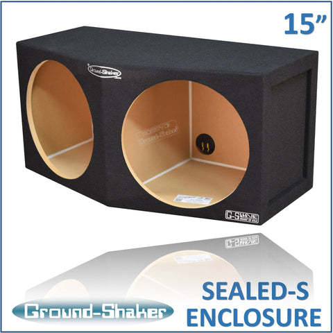 "GS-CP215B <br> BLACK 15"" DUAL SEALED COMPACT SUB BOX"