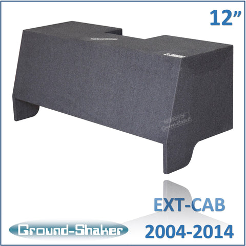 "GS- CQHV212B <br>BLACK 10"" DUAL SEALED SUB BOX, FITS CHEVY COLORADO & GMC CANYON EXT-CAB 2004-2014."