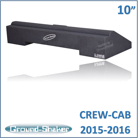 "GS-CXHV110B <br> BLACK 10"" SINGLE SEALED SUB BOX, FITS CHEVY COLORADO & GMC CANYON CREW-CAB 2015-2016"