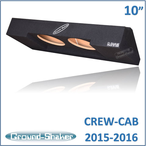 "GS-CXHV210B <br> BLACK 10"" DUAL SEALED SUB BOX, FITS CHEVY COLORADO & GMC CANYON CREW-CAB 2015-2016"