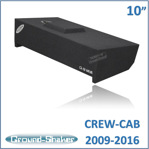"GS- DF150110B <br>BLACK 10"" SINGLE SEALED SUB BOX, FITS FORD F-150 CREW-CAB 2009-2016"