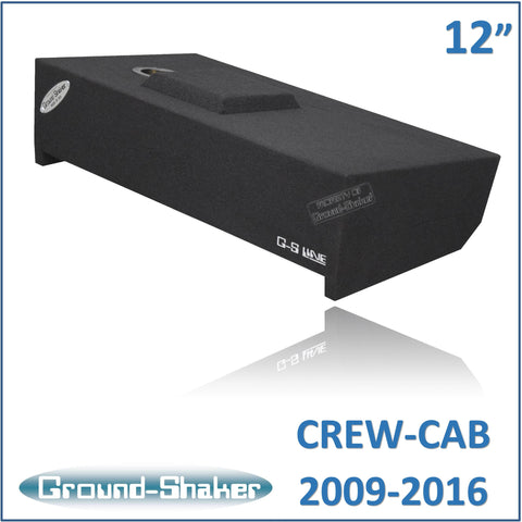 "GS-DF150112B <br>BLACK 12"" SINGLE SEALED SUB BOX, FITS FORD F-150 CREW-CAB 2009-2016"