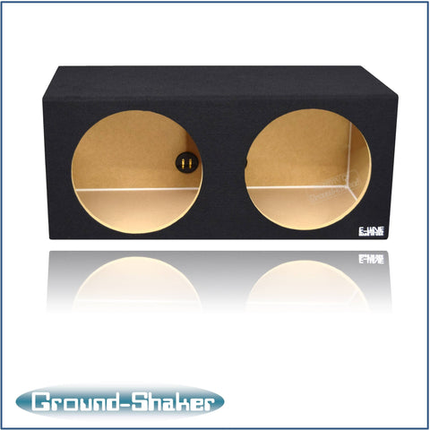 "GS-ES212B <br> BLACK 12"" DUAL SEALED SUB BOX"