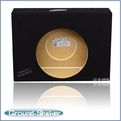 "GS-F250112B <br>BLACK 12""  SINGLE SEALED SUB BOX, FITS FORD F250/F350 SUPER DUTY CREW-CAB 1997-2007"