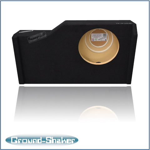 "GS-GCHV110B <br>BLACK 10"" SINGLE SEALED SUB BOX FITS CHEVY SILVERADO & GMC SIERRA CREW-CAB 2014-2016"