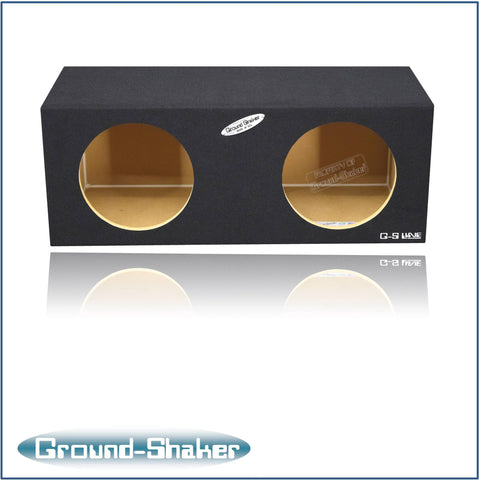 "GS-SQ210B <br>BLACK 10"" DUAL MID-SIZE SEALED SUB BOX"