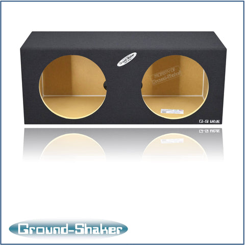 "GS-SQ212B <br>BLACK 12"" DUAL MID-SIZE SEALED SUB BOX"