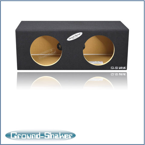 "GS-SQ28B <br> BLACK 8"" DUAL MID-SIZE SEALED SUB BOX"