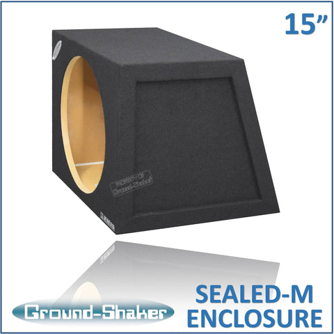 "GS-HB115B <br>BLACK 15"" SINGLE SEALED MID-SIZE HATCHBACK SUB BOX"