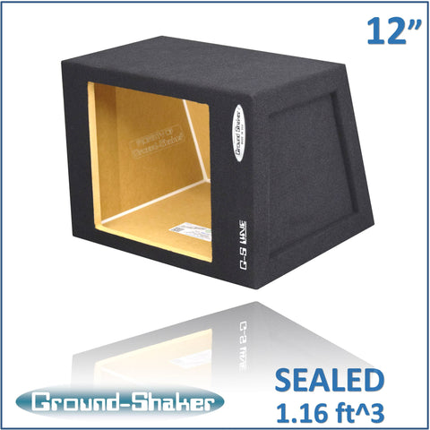 "GS-KK112B <br> BLACK 12"" SINGLE SEALED MID-SIZE HATCHBACK SUB BOX"