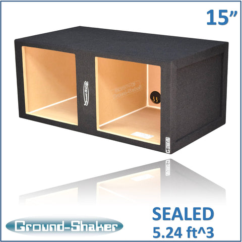 "GS- KKL215B <br> BLACK LARGE 15"" DUAL SEALED SUB BOX"