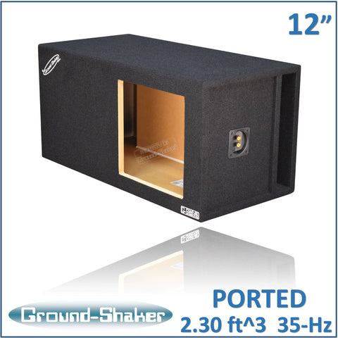 "GS-KKPXL112B <br> BLACK 12"" SINGLE PORTED EXTRA LARGE SUB BOX"