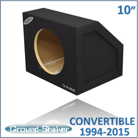 "GS-MCV110B  <br>BLACK 10"" SINGLE SEALED SUB BOX, FITS FORD MUSTANG CONVERTIBLE 1994-2015 & COUPE 2005-2015"