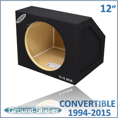 "GS-MCV112B <br>BLACK 12"" SINGLE SEALED SUB BOX, FITS FORD MUSTANG CONVERTIBLE 1994-2015 & COUPE 2005-2015"