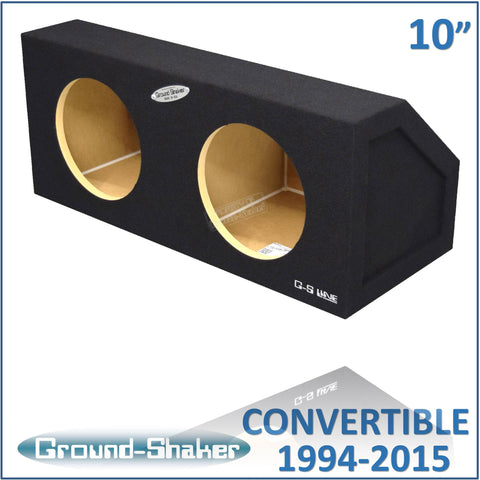 "GS-MCV210B <br>BLACK 10"" DUAL SEALED SUB BOX, FITS FORD MUSTANG CONVERTIBLE 1994-2015 & COUPE 2005-2015"