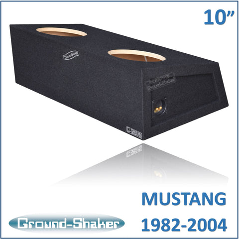 "GS-MST210B <br> BLACK 10"" DUAL SEALED SUB BOX, FITS FORD MUSTANG COUPE 1982-2004"