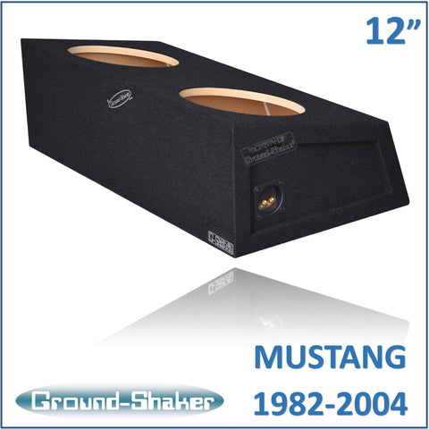 "GS-MST212B <br>  BLACK 12"" DUAL SEALED SUB BOX, FITS FORD MUSTANG COUPE 1982-2004"