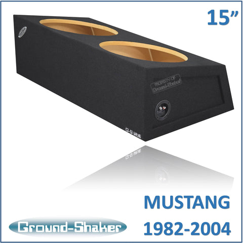"GS-MST215B <br> BLACK 15"" DUAL SEALED SUB BOX, FITS FORD MUSTANG COUPE 1982-2004"