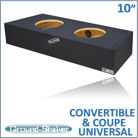 "GS-MSTCX210B <br> BLACK 10"" DUAL SEALED SUB BOX, FITS FORD MUSTANG CONVERTIBLE 1982-2015 & MUSTANG COUPE 1982-2004"