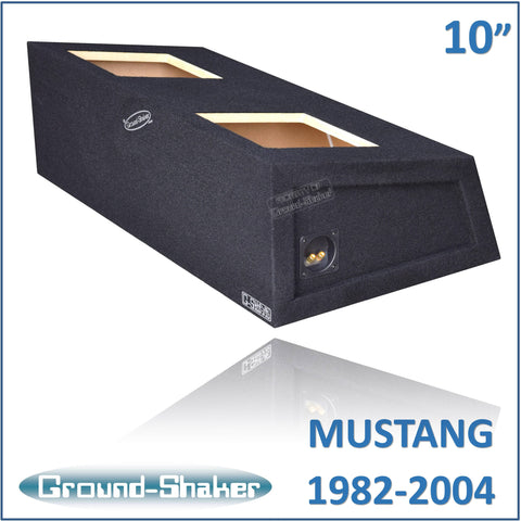 "GS-MSTKK210B <br>BLACK 10"" DUAL SEALED SUB BOX, FITS FORD MUSTANG COUPE 1982-2004"