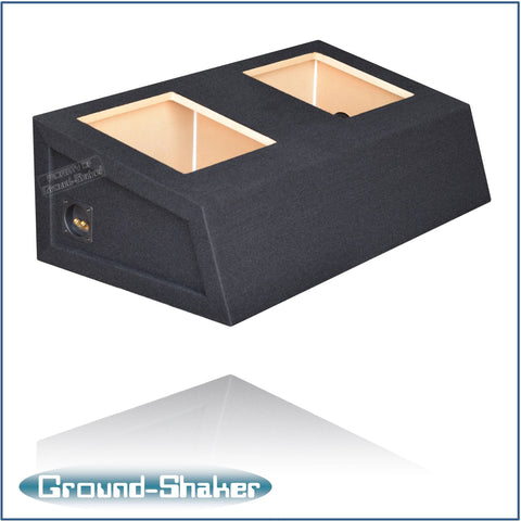 "GS-MSTKK212B <br> BLACK 12"" DUAL SEALED SUB BOX, FITS FORD MUSTANG COUPE 1982-2004."