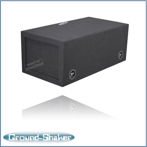 "GS-NPKK212B <br> BLACK 12"" DUAL SLOT CENTER PORTED SUB BOX"