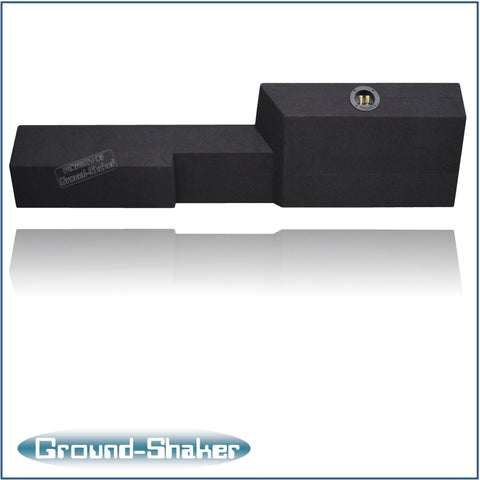 "GS-NSF110B <br>BLACK 10"" SINGLE SEALED SUB BOX, FITS NISSAN FRONTIER CREW-CAB 2005-2016"