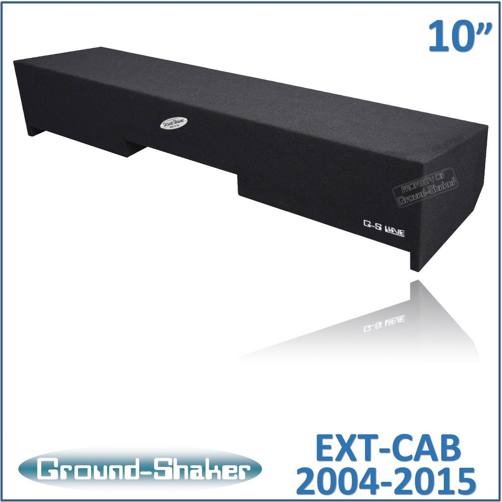 "GS-NST210B <br>BLACK 10"" DUAL SEALED SUB BOX, FITS NISSAN TITAN EXT/KING-CAB 2004-2015"