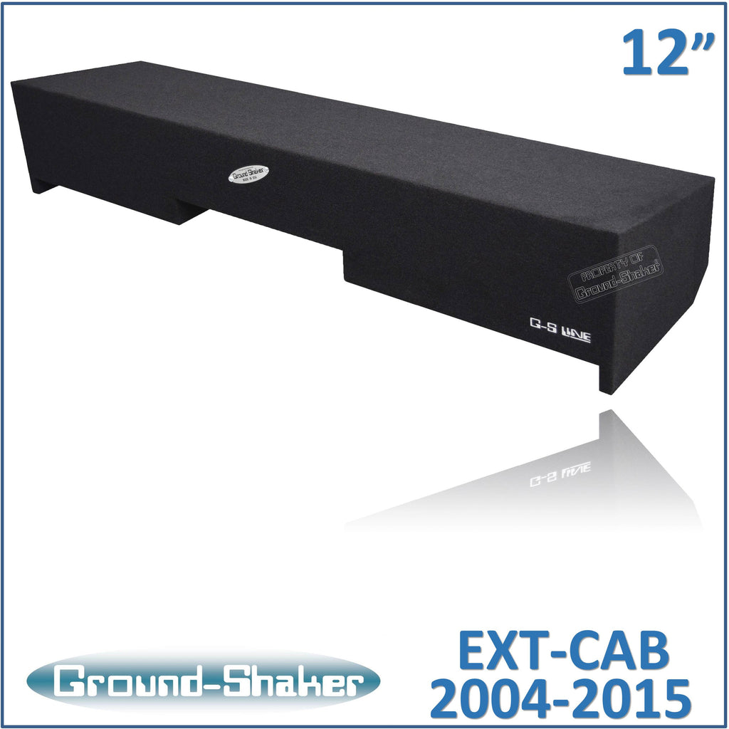 "GS-NST212B <br>BLACK 12"" DUAL SEALED SUB BOX, FITS NISSAN TITAN EXT/KING-CAB 2004-2015"