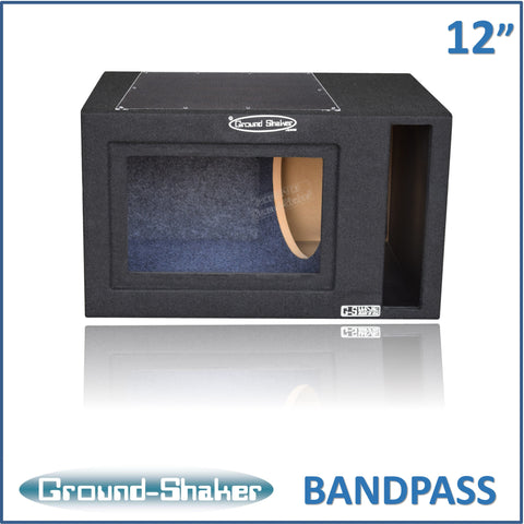 "GS-PBP112B <br> BLACK 12"" SINGLE SLOT PORTED BANDPASS SUB BOX"