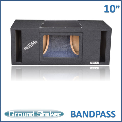 "GS-PBP210B <br> BLACK 10"" DUAL SLOT PORTED BANDPASS SUB BOX"