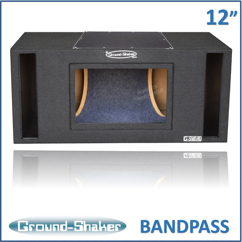 "GS-PBP212B <br> BLACK 12"" DUAL SLOT PORTED BANDPASS SUB BOX"