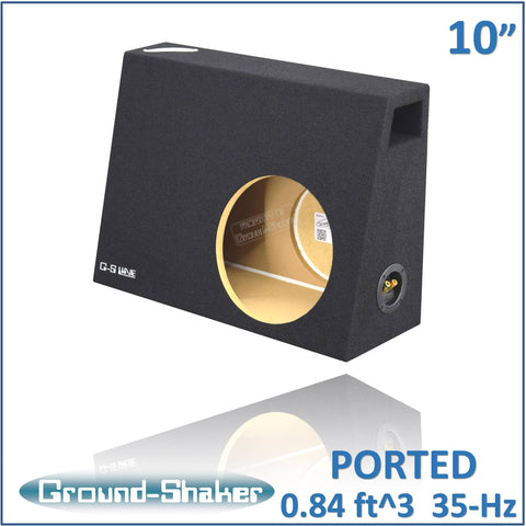 "PS-PT110B <br> BLACK 10"" SINGLE PORTED COMPACT SUB BOX"