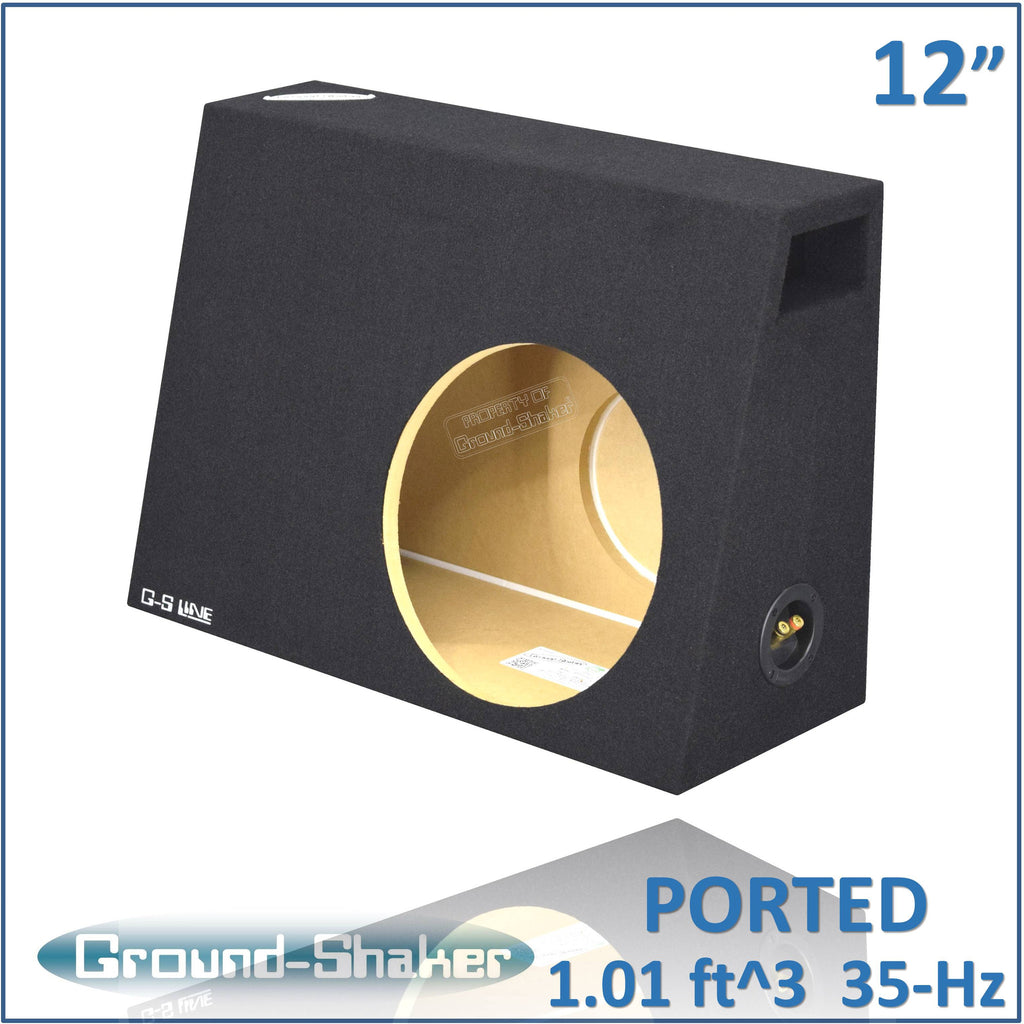 "PS-PT112B <br> BLACK 12"" SINGLE PORTED COMPACT SUB BOX"