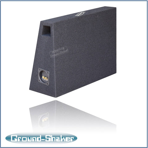 "PS-PT18B <br> BLACK 8"" SINGLE PORTED COMPACT SUB BOX"