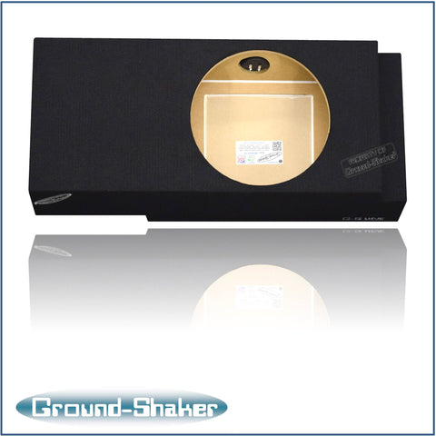 "GS-QCHV112B    <br>   BLACK 12"" SINGLE SEALED SUB BOX, FITS CHEVY SILVERADO & GMC SIERRA CREW-CAB 2001-2007"