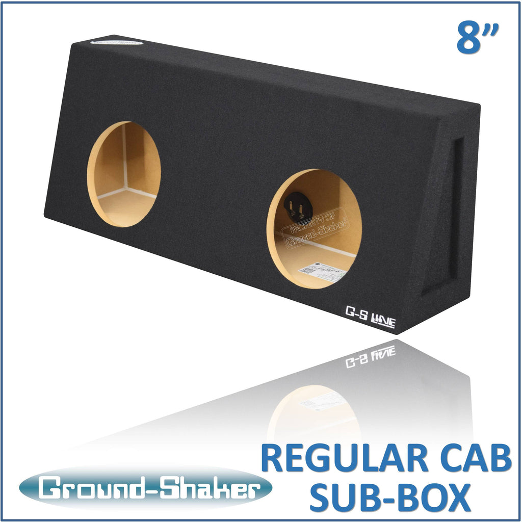"RC-ST28B <br> BLACK 8"" DUAL SEALED SUB BOX, FITS REGULAR CAB TRUCKS"