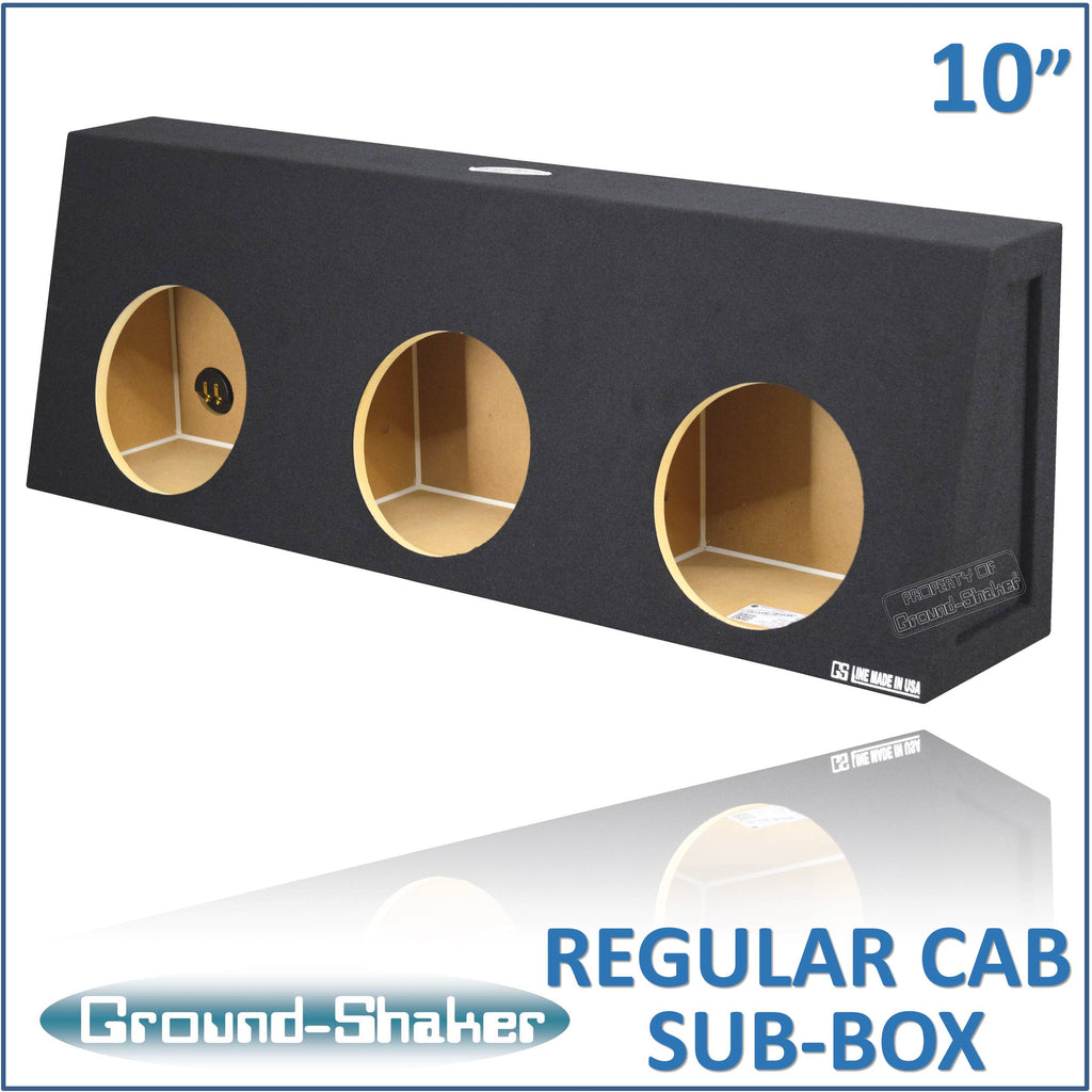 "RC-ST310B <br> BLACK 10"" TRIPLE SEALED SUB BOX, FITS REGULAR CAB TRUCKS"