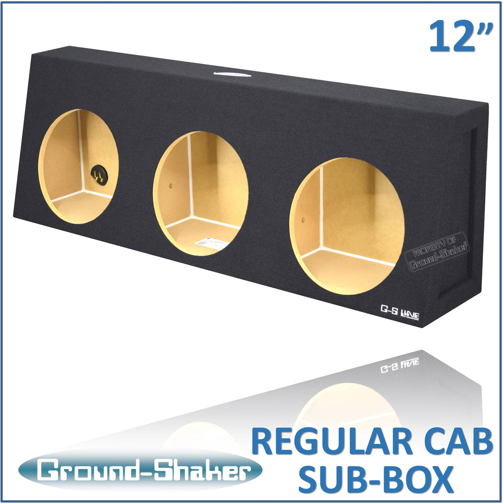 "RC-ST312B <br> BLACK 12"" TRIPLE SEALED SUB BOX, FITS REGULAR CAB TRUCKS"