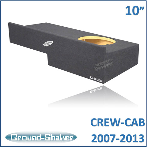 "GS-RCHV110B <br> BLACK 10"" SINGLE SEALED SUB BOX, FITS CHEVY SILVERADO & GMC SIERRA CREW-CAB 2007-2013"