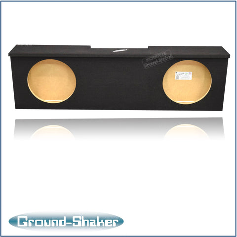 "GS-RCHV212B <br> BLACK 12"" DUAL SEALED SUB BOX, FITS CHEVY SILVERADO & GMC SIERRA CREW-CAB 2007-2013"