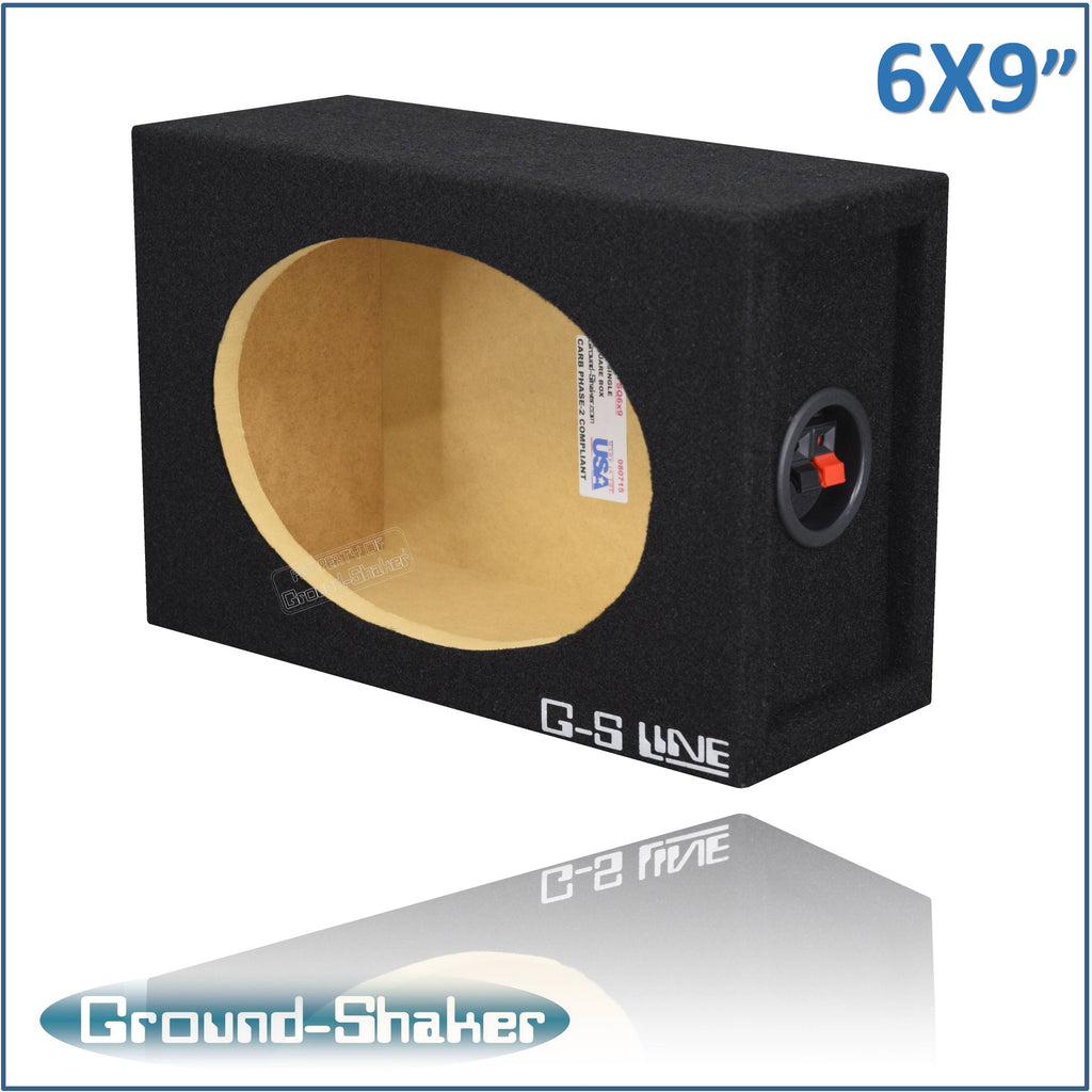 "GS-SQ16X9B <br>BLACK ""6X9"" SINGLE SPEAKER ENCLOSURE"