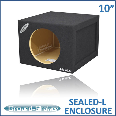 "GS-SQL110B <br> BLACK LARGE 10"" SINGLE SEALED SUB BOX"