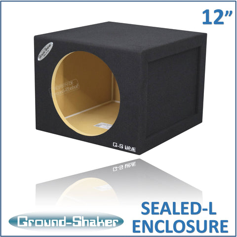 "GS-SQL112B <br> BLACK LARGE 12"" SINGLE SEALED SUB BOX"