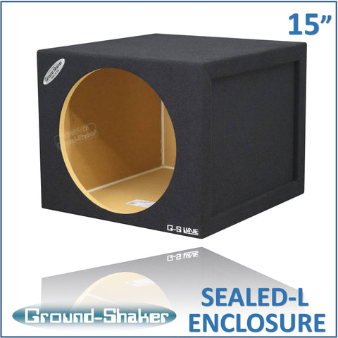 "GS-SQL115B <br> BLACK LARGE 15"" SINGLE SEALED SUB BOX"