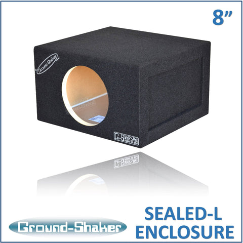 "GS-SQL18B <br> BLACK LARGE 8"" SINGLE SEALED SUB BOX"