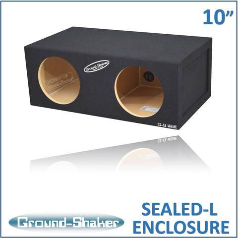 "GS-SQL210B <br> BLACK LARGE 10"" DUAL SEALED SUB BOX"
